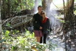 Sean and Katie--you can see the steam from the spring behind them.