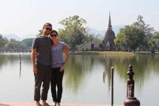 Keith and I at Sukhothai Historical Park
